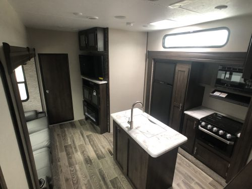 Kitchen-living-area-KZ-Sportster-Toy-Hauler-fifthwheel