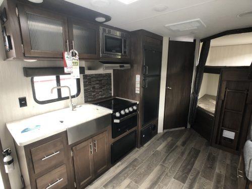 2019-Grey-Wolf-23DBH-Bunk-House-RV-Kitchen