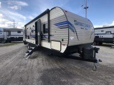 2019 Sportsmen 291BHLE Bunk House double entry door travel trailer.