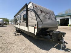 Rear Kitchen Travel Trailer by KZ Sportsmen LE Exterior View.