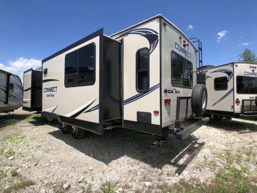 2019-Spree-Connect-303RL-Rear-Rack-Travel-Trailer