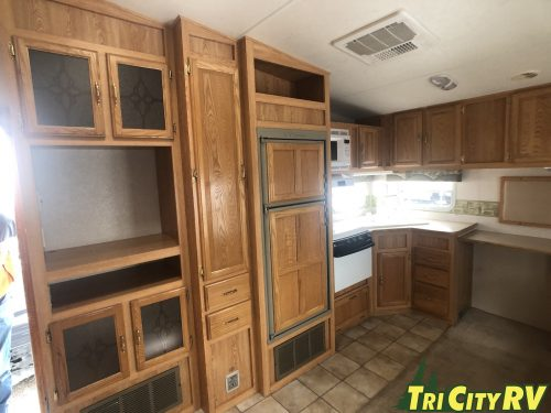 Kitchen and living are in the cruser fifth wheel