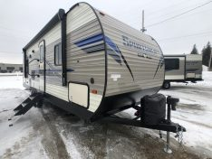 Exterior view of the Sportsmen 241RLLE Travel Trailer
