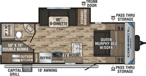 2020 Spree Connect 231BHSE Bunk House Travel Trailer