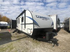 Fiberglass exterior of the KZ Connect 313RL Travel Trailer