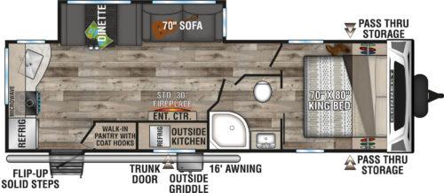 2021-KZ-RV-Connect-C261RKK-Travel-Trailer-Floorplan